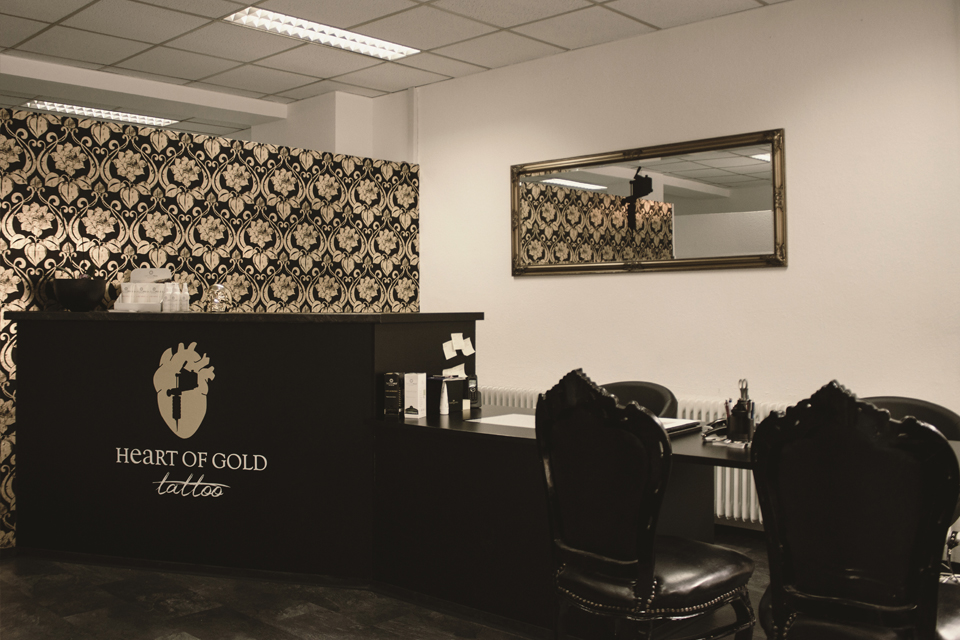 Empfang im Heart of Gold Tattoo Studio Stuttgart