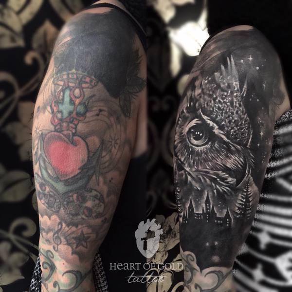 Cover-up Tattoo - Heart of Gold Tattoostudio in Stuttgart